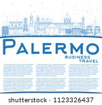 outline palermo italy city... | Shutterstock .eps vector #1123326437