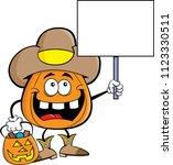cartoon illustration of a... | Shutterstock . vector #1123330511
