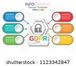 general data protection... | Shutterstock .eps vector #1123342847