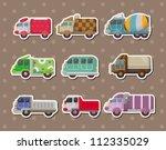 truck stickers | Shutterstock .eps vector #112335029