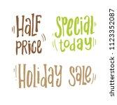 handdrawn lettering of a... | Shutterstock .eps vector #1123352087