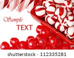 christmas candy on white... | Shutterstock . vector #112335281