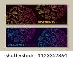 flyer template for shop ... | Shutterstock .eps vector #1123352864