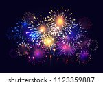 fireworks vector illustration | Shutterstock .eps vector #1123359887
