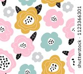seamless pattern with... | Shutterstock .eps vector #1123366301