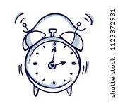 alarm clock wake up time... | Shutterstock .eps vector #1123372931