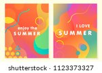 unique artistic summer cards... | Shutterstock .eps vector #1123373327