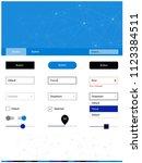 dark blue vector ui ux kit in...