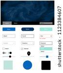 light blue  green vector web ui ...
