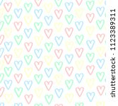 pattern  heart  colorful bright | Shutterstock . vector #1123389311