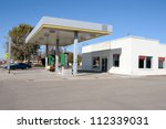 a shut down gas station in a... | Shutterstock . vector #112339031