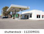 a shut down gas station in a... | Shutterstock . vector #112339031