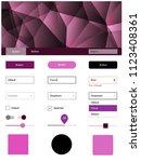 dark pink vector ui kit in...