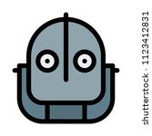 iron giant face | Shutterstock .eps vector #1123412831