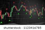 financial stock market chart... | Shutterstock . vector #1123416785