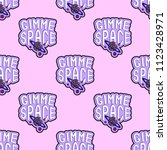 seamless pattern with patches ... | Shutterstock .eps vector #1123428971