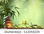 spa still life with stacked of... | Shutterstock . vector #112343234