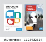pay per click brochure flyer... | Shutterstock .eps vector #1123432814