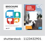 strategy brochure flyer design... | Shutterstock .eps vector #1123432901