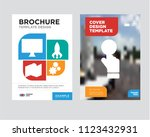 pay per click brochure flyer... | Shutterstock .eps vector #1123432931