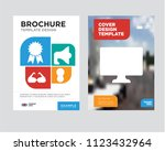 pay per click brochure flyer... | Shutterstock .eps vector #1123432964