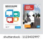 pay per click brochure flyer... | Shutterstock .eps vector #1123432997