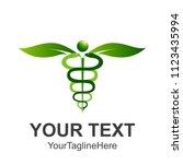 caduceus medical symbol or... | Shutterstock .eps vector #1123435994