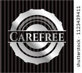 carefree silvery emblem | Shutterstock .eps vector #1123439411