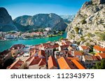 panorama of omis croatia | Shutterstock . vector #112343975