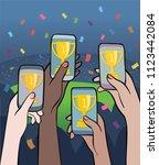 championship winners  ...   Shutterstock .eps vector #1123442084