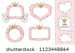 set of cute doodle mirrors.... | Shutterstock .eps vector #1123448864