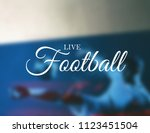 live football  flag of russia ... | Shutterstock . vector #1123451504