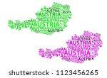 sketch austria letter text map  ... | Shutterstock .eps vector #1123456265