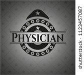 physician dark emblem. retro | Shutterstock .eps vector #1123457087