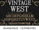 vintage font handcrafted vector ... | Shutterstock .eps vector #1123461461