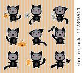 kawaii collection of halloween...   Shutterstock .eps vector #112346951