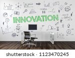 innovation concept in a... | Shutterstock . vector #1123470245