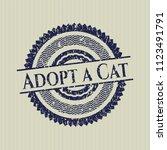 blue adopt a cat rubber stamp | Shutterstock .eps vector #1123491791