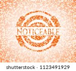 noticeable orange mosaic emblem ... | Shutterstock .eps vector #1123491929