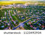 high above community real... | Shutterstock . vector #1123492934