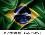 waving colorful brazilian flag   Shutterstock . vector #1123493927