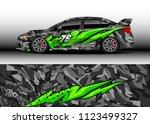 car wrap graphic racing...   Shutterstock .eps vector #1123499327