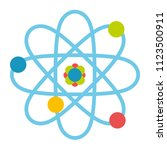 vector cartoon atom isolated on ... | Shutterstock .eps vector #1123500911