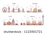 business city in england.... | Shutterstock . vector #1123501721