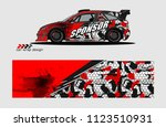 car decal graphic background... | Shutterstock .eps vector #1123510931