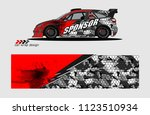 car decal graphic background... | Shutterstock .eps vector #1123510934