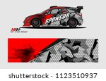 car decal graphic background...   Shutterstock .eps vector #1123510937