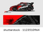 car decal graphic background... | Shutterstock .eps vector #1123510964