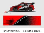 car decal graphic background...   Shutterstock .eps vector #1123511021