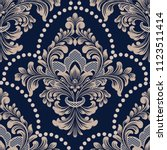vector damask seamless pattern... | Shutterstock .eps vector #1123511414